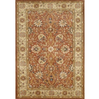 Alliyah Handmade TajMahal Orange New Zealand Blend Wool Rug (8' x 10')
