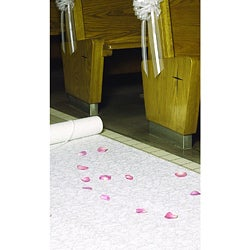 HBH White Fabric Aisle Runner