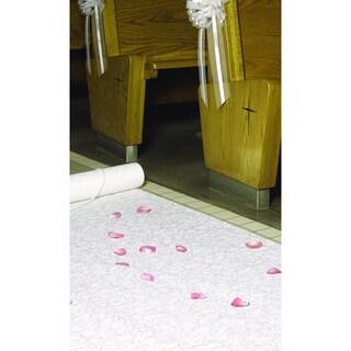HBH White Fabric Aisle Runner