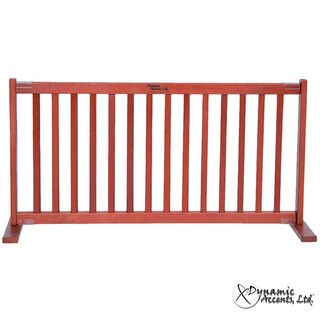 """Dynamic Accents Kensington Large 20"""" Tall Cherry Wooden Pet Gate"""