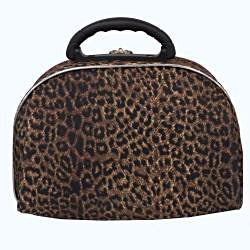 Luca Vergani Pink Leopard 2-piece Beauty Cosmetic Case Set - Thumbnail 1
