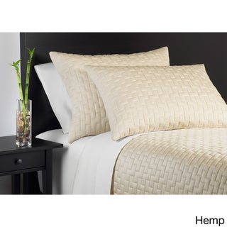 Rayon from Bamboo 3-piece Coverlet Set (Option: King-Tan)