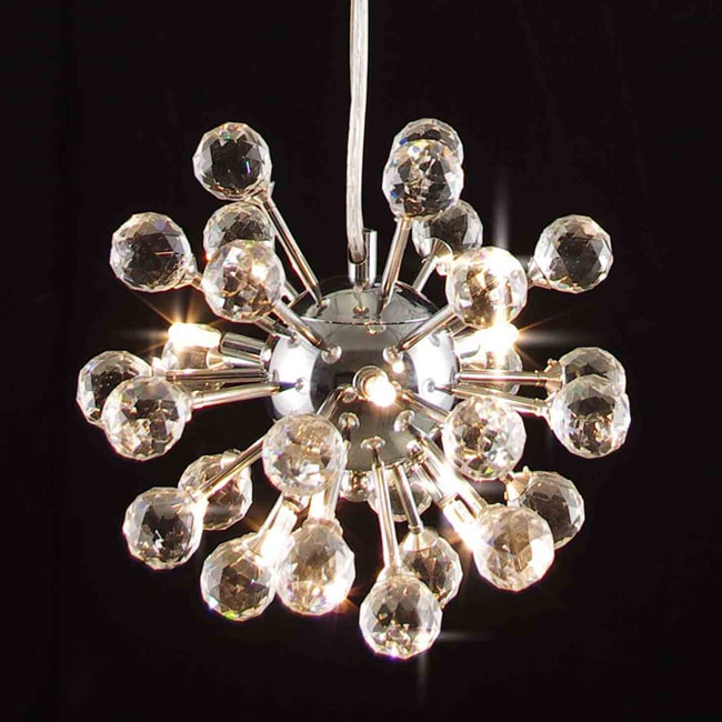 Gallery Modern Crystal 6-light Fixture Chandelier - Thumbnail 0