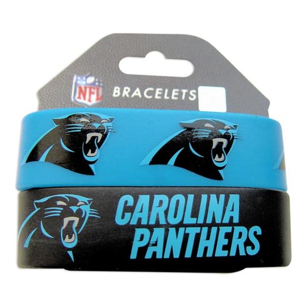 Carolina Panthers Rubber Wrist Bands (Set of 2)