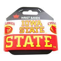 Iowa State Cyclones Rubber Wrist Band (Set of 2)