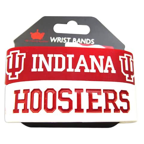 Indiana Hoosiers Rubber Wrist Band (Set of 2)