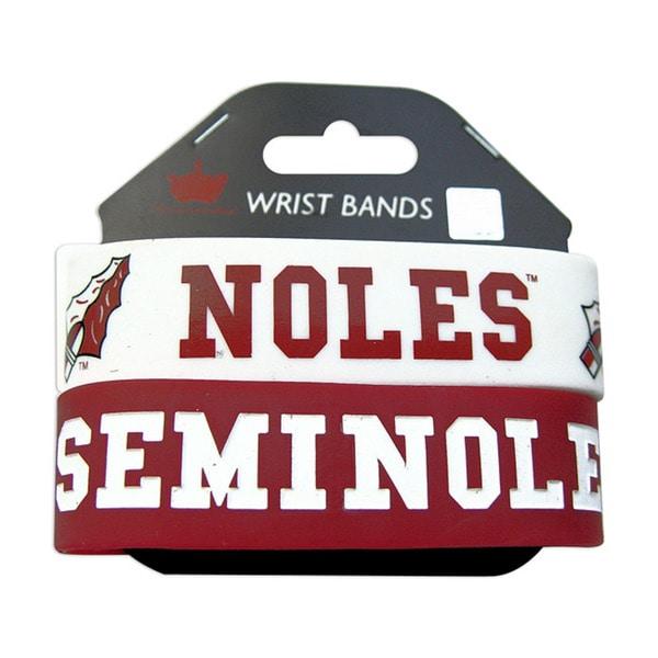 Florida State Seminoles Rubber Wrist Band (Set of 2)