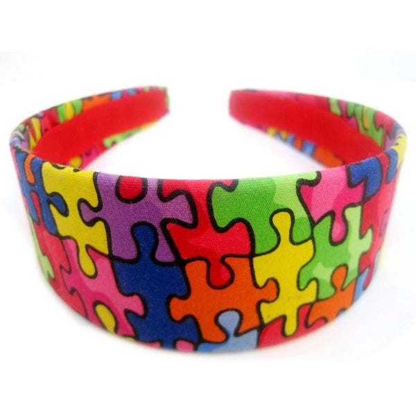 Crawford Corner Shop Colorful Puzzle Print Headband