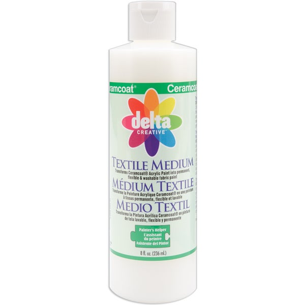 Delta Ceramcoat Painters Helper Textile Medium - Eight Ounces