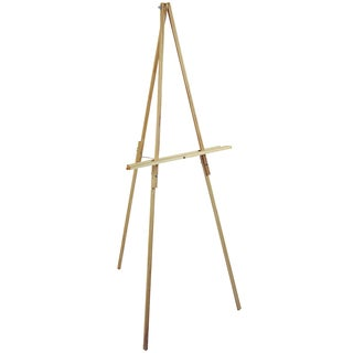 "Natural Wood Floor Easel-65"" High"