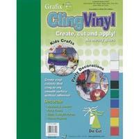 """Cling Vinyl 9""""X12"""" 9/Pkg-Assorted Colors"""