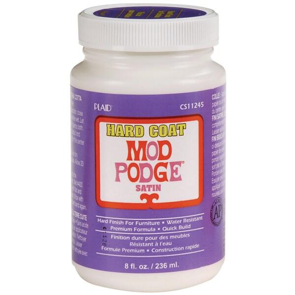 Plaid Mod Podge Satin Hard Coat Water-based Non-toxic 8-ounce Adhesive