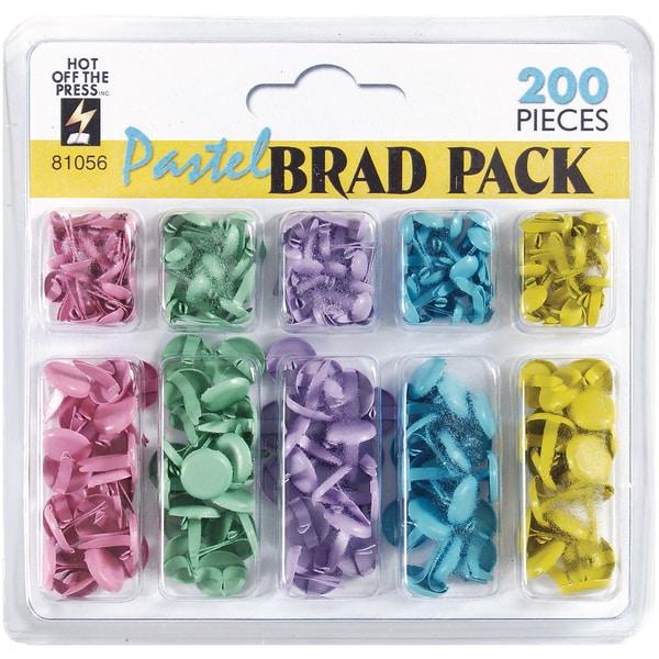 HOTP Brad Pack 200/Pkg-Pastel