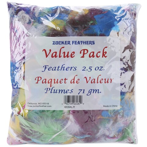 Value Pack Feathers 2.5 Ounces-Assorted