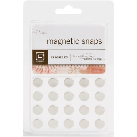 Basic Grey Magnetic Snaps (Pack of 10)
