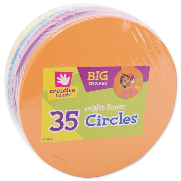 Foam Shapes 35/Pkg-Circles