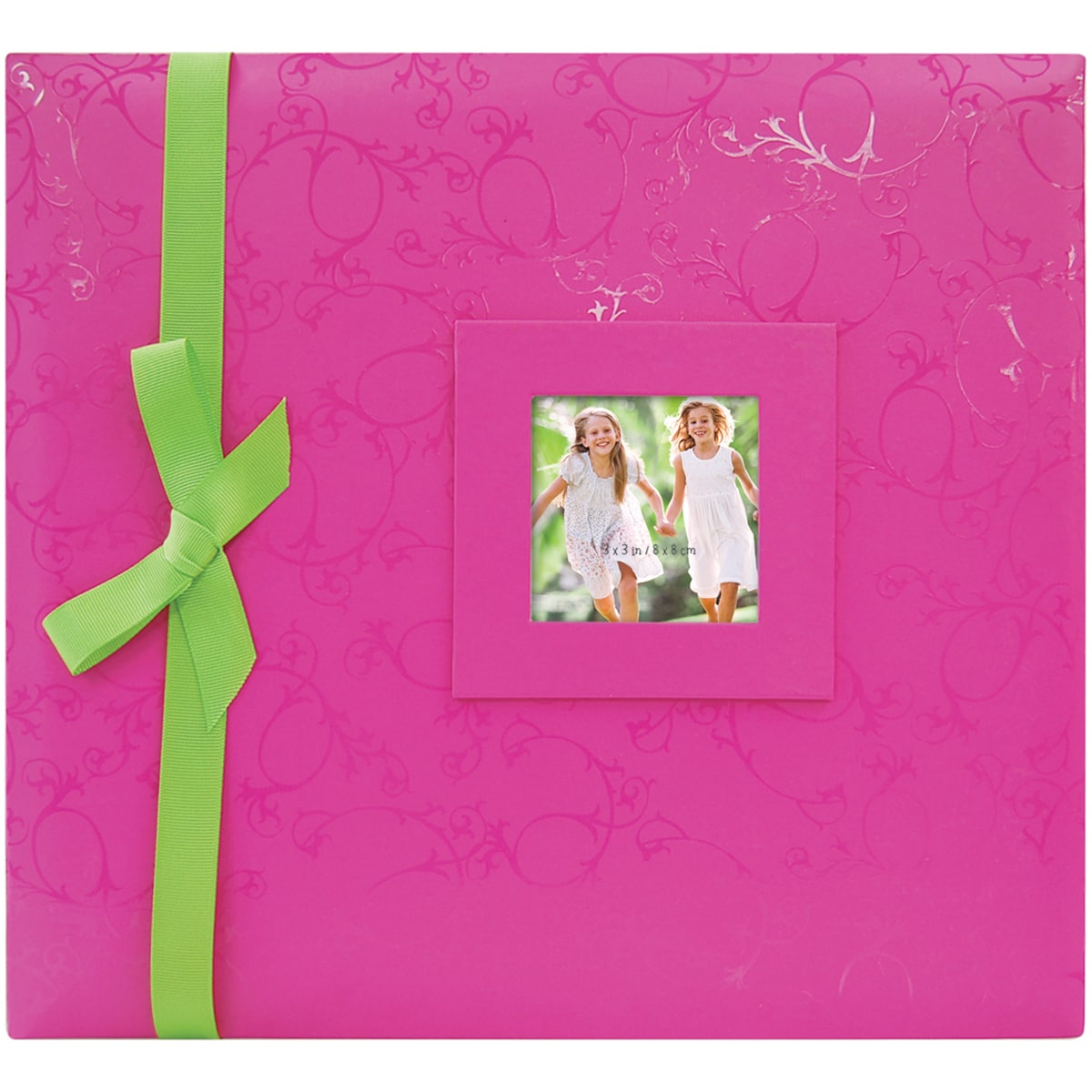 """Embossed Postbound Album 12""""X12""""-Pink (Pink), Clear (Paper)"""