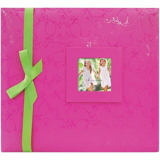 "Embossed Postbound Album 12""X12""-Pink"