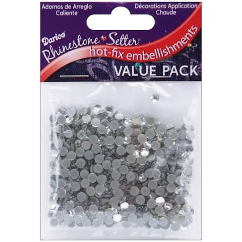 Rhinestone Setter Hot-Fix Embellishments 4mm 750/Pkg-Crystal Glass Stone