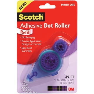 "Scotch 3M Adhesive Dot Roller Refill-.31""X49ft"
