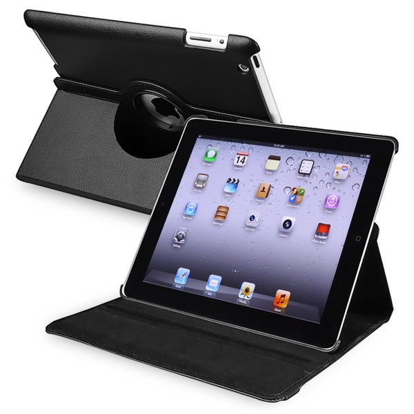 BasAcc Black 360-degree Swivel Leather Case for Apple® iPad 2/ 3