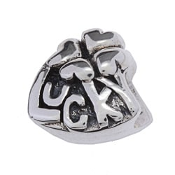 Sterling Silver 'Lucky' Charm Bead