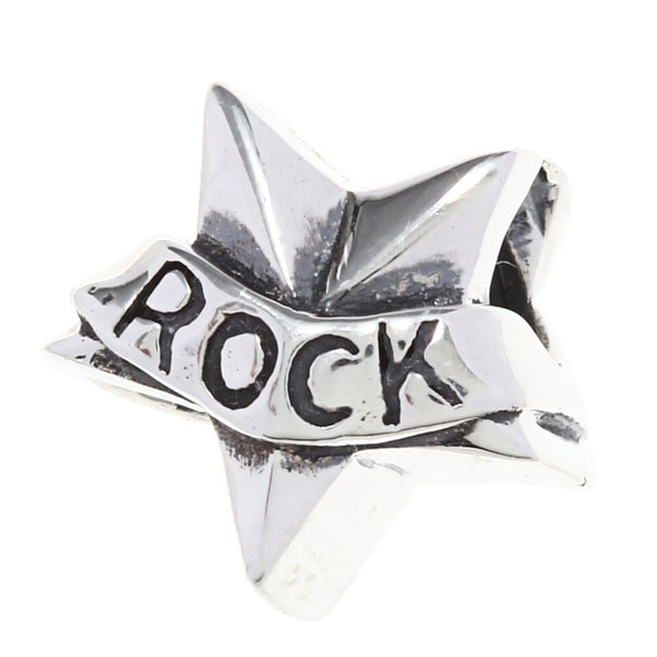Sterling Silver Rock Star Charm Bead