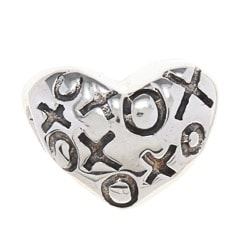 Sterling Silver Heart Charm Bead