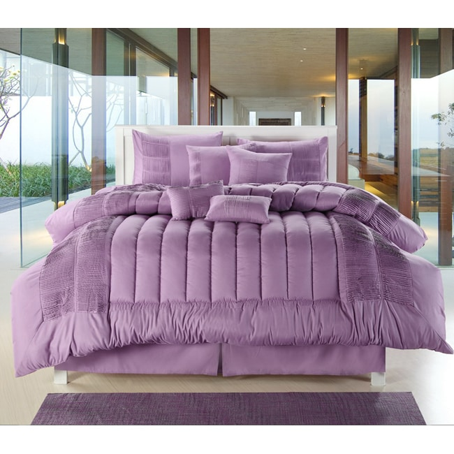 Sevilla Purple 12-piece Bed in a Bag with Sheet Set - Thumbnail 0