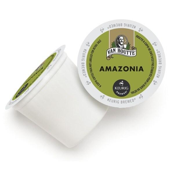 Van Houtte Cafe Amazonia Blend, Organic Fair Trade Coffee K-Cups for Keurig Brewers