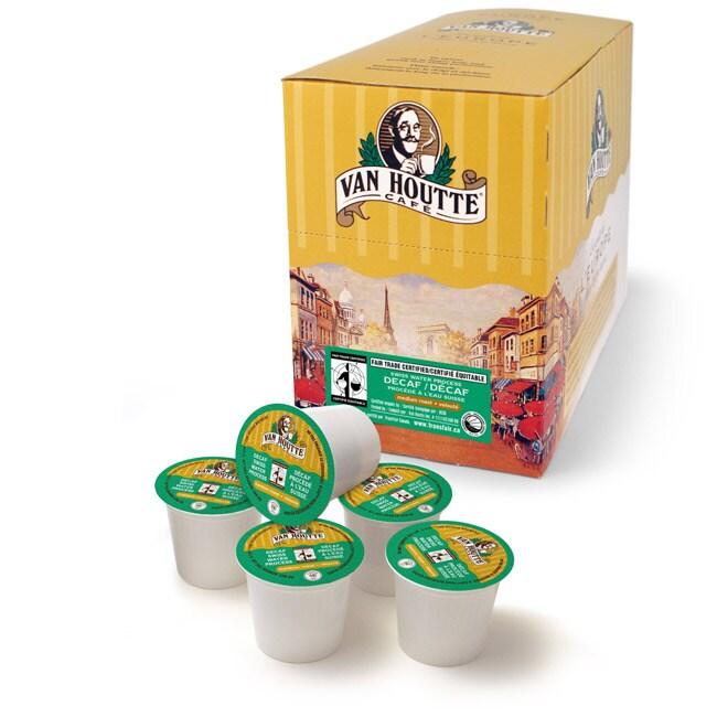 Van Houtte Cafe Swiss Decaf Organic Fair Trade Coffee K-Cups for Keurig Brewers (Pack of 96)