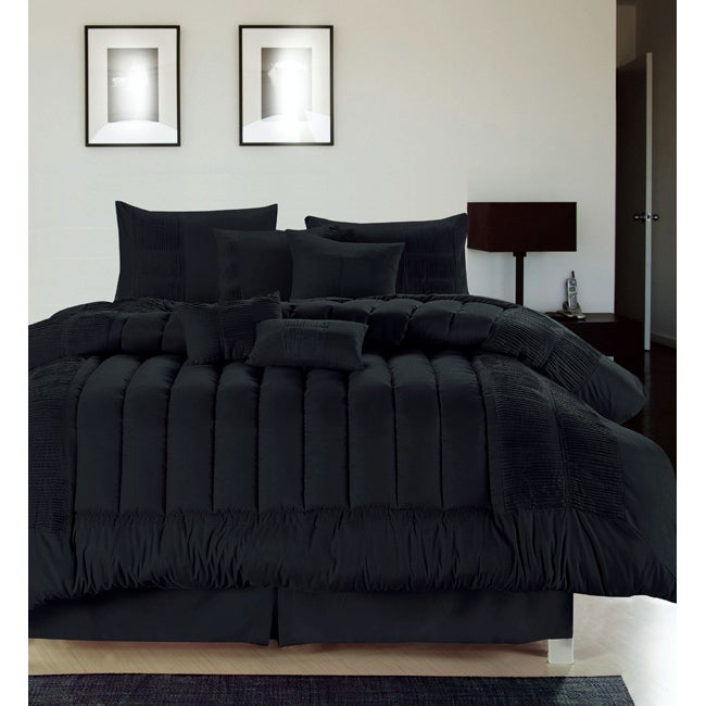 Sevilla Black 12-piece Bed in a Bag with Sheet Set