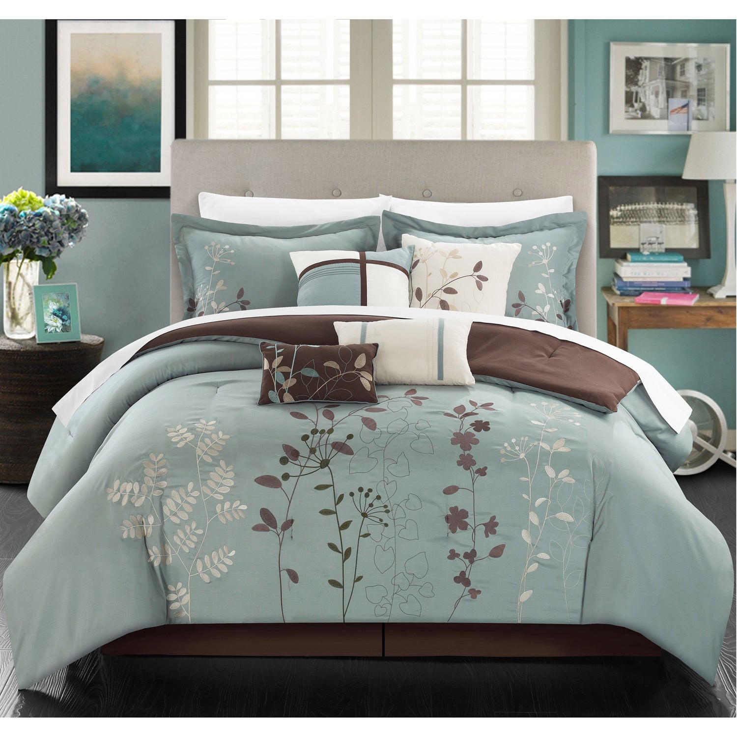 bed overstock piece lush decor bath product orders com shipping comforter reyna bedding on set free