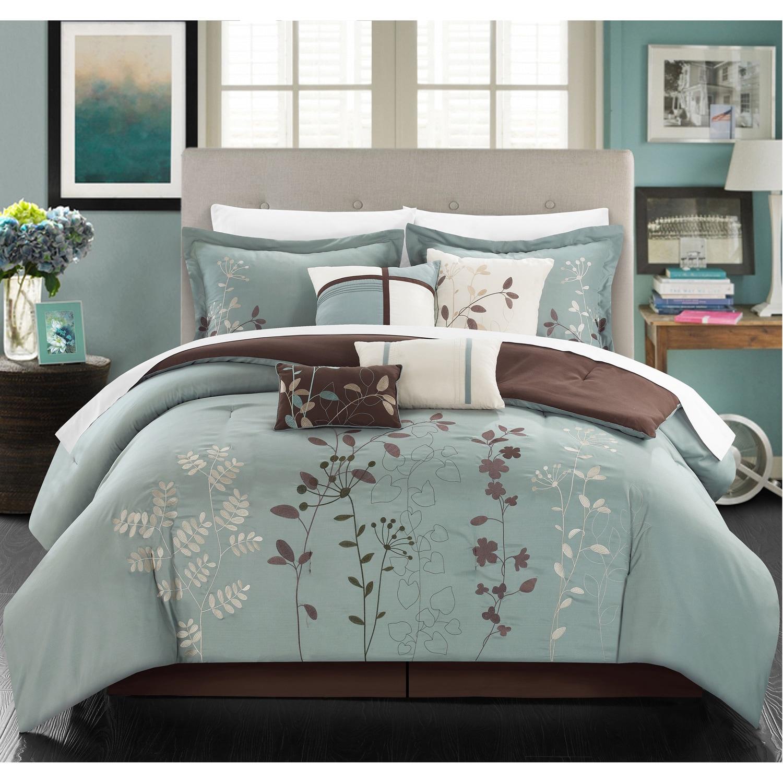 park overstock bed comforter grey trellis bedding complete madison product bath set cotton almaden and com essentials reversible sheet pattern