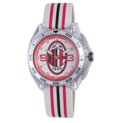 Chronotech Kids' White/ Red/ Black Canvas Watch