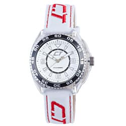 Chronotech Kid's White and Red Canvas Watch|https://ak1.ostkcdn.com/images/products/6980698/Chronotech-Kids-White-and-Red-Canvas-Watch-P14492228.jpg?impolicy=medium