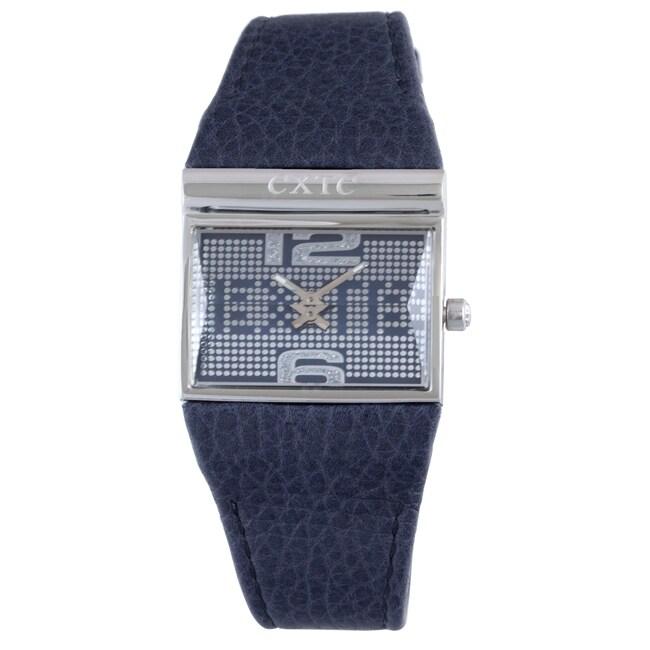 Exte Women's Blue Leather Watch