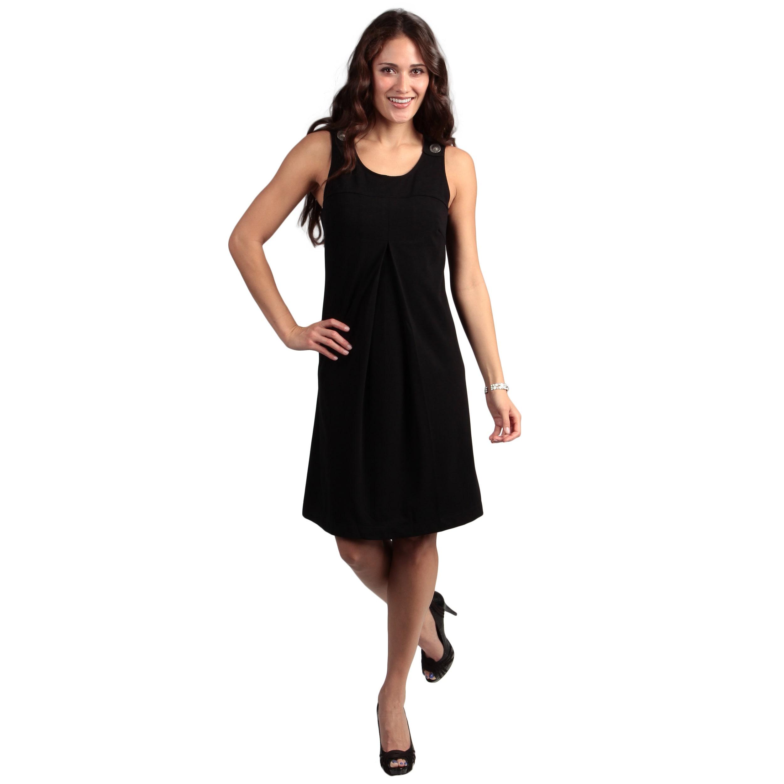 Live A Little Women's Black Jumper Dress (Black- S) (poly...