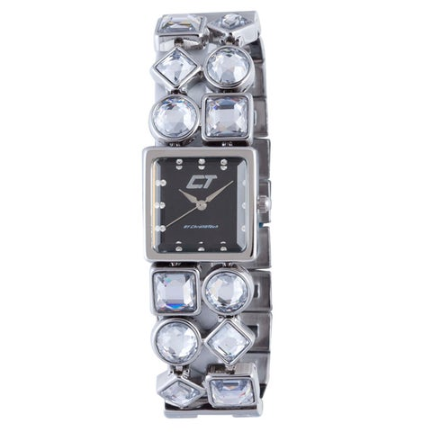 Chronotech Women's Brown Mother of Pearl Dial Stainless Steel and Crystal Watch
