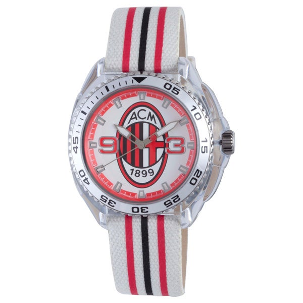 Chronotech Kids' Black and Red Canvas Watch