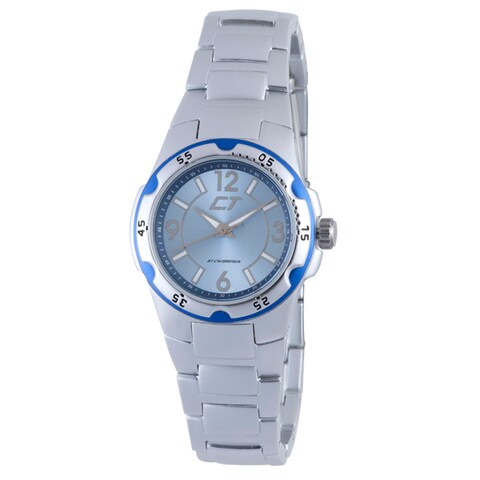 Chronotech Women's Light Blue and Silver Aluminum Watch
