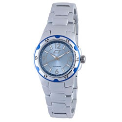 Chronotech Women's Light Blue and Silver Aluminum Watch