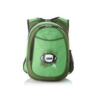 Obersee Kids Pre-School All-In-One Green Football Backpack with Cooler