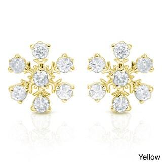 Auriya 10k Gold Diamond Snowflake Earrings (H-I, I1-I2)
