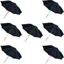 TG Unisex Black Nylon Color Changing LED Umbrella/Flashlight
