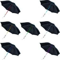 TG Unisex Black Nylon Color Changing LED Umbrella/Flashlight - Thumbnail 1