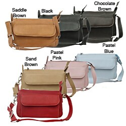 Piel Leather Women's Front Pocket Clutch Purse