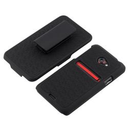 Black Holster with Stand for HTC EVO 4G LTE