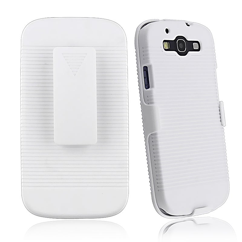 White Holster with Stand for Samsung Galaxy S III i9300