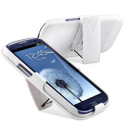 White Holster with Stand for Samsung Galaxy S III i9300 - Thumbnail 2